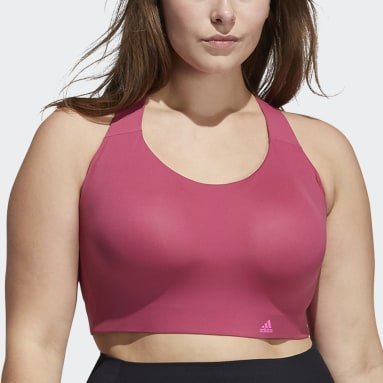 Women Gym & Training Pink Ultimate Bra (Plus Size)