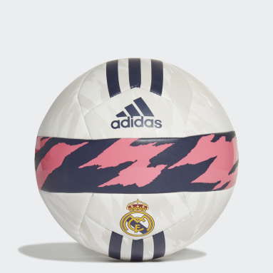 Men Football White Real Madrid Club Ball