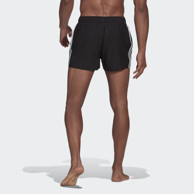 Men's Swim Black Classic 3-Stripes Swim Shorts