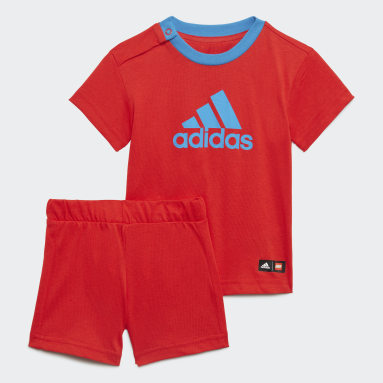 Infant & Toddler Training Red adidas x Classic LEGO® Tee and Shorts Set