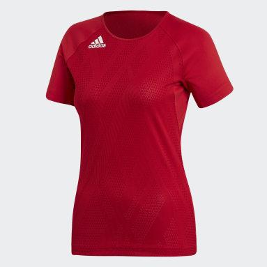 Women's Volleyball Red Quickset Jersey