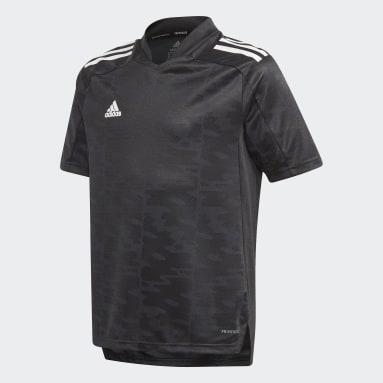 Jongens Voetbal Zwart Condivo 21 Primeblue Voetbalshirt
