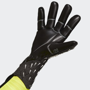 Football Black Predator Pro Goalkeeper Gloves