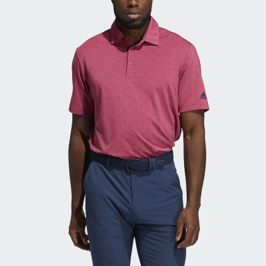 Men Golf Pink Ultimate365 Printed Polo Shirt