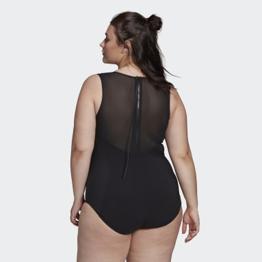 Women Swimming Black SH3.RO X-Shape Swimsuit (Plus Size)
