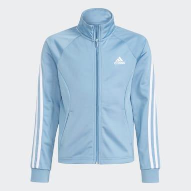Survêtement 3-Stripes Team Primegreen Bleu Filles Fitness Et Training