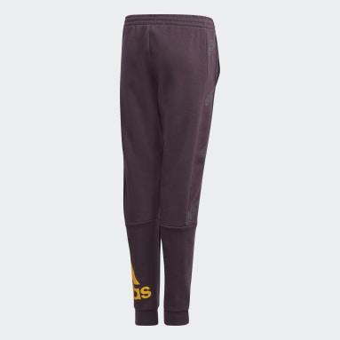 Youth Essentials Purple Classics Allover Print Pants