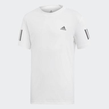 Boys Padel Tennis White 3-Stripes Club T-Shirt