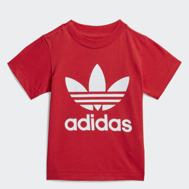 Kids Originals Red Trefoil Tee