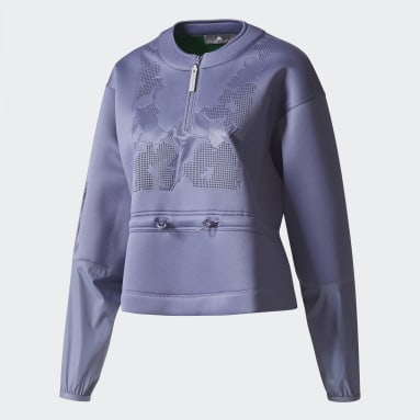 Sudadera Run Performance Violeta Mujer adidas by Stella McCartney