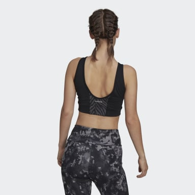 W ZBR CROP TP Negro Mujer Training