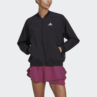 Women Tennis Black Primeblue Tennis Jacket