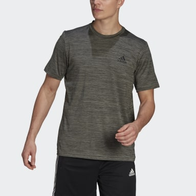 Heren Fitness En Training Grijs AEROREADY Designed To Move Sport Stretch T-shirt