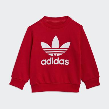 Děti Originals červená Souprava Crew Sweatshirt