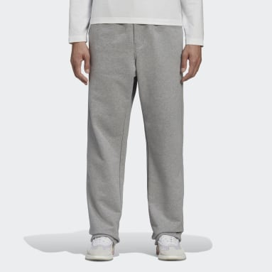 Men Y-3 Grey Y-3 CL Wide Leg Pants