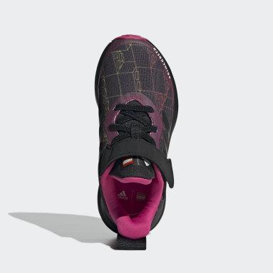Kids Running Black adidas FortaRun x LEGO® Elastic Lace Top Strap Shoes
