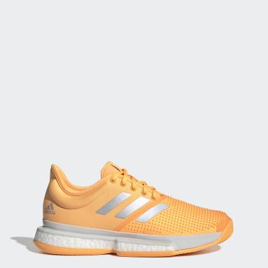 Women's Tennis Orange SoleCourt Tennis Shoes