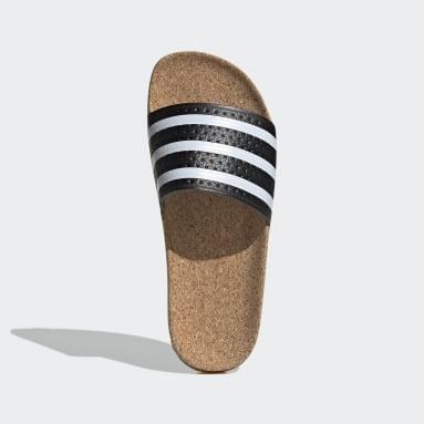 Ženy Originals černá Pantofle adilette Cork