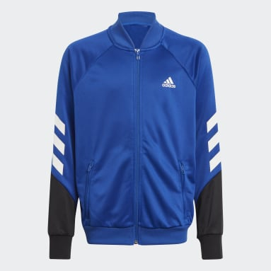 Youth 8-16 Years Gym & Training Blue XFG 3-Stripes Tracksuit