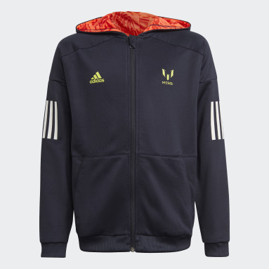 Boys Gym & Träning Blå Messi Football-Inspired Full-Zip Hoodie