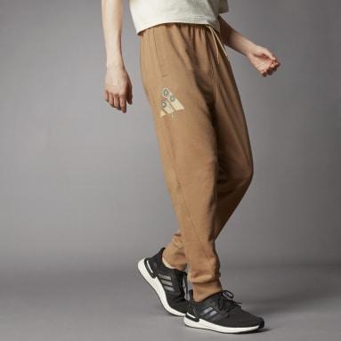Men Sportswear Brown Terra Love O-Shape Pants