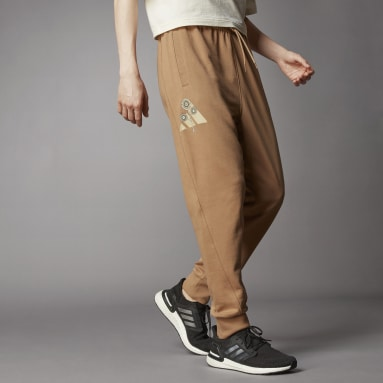 Men Sportswear Brown Terra Love O-Shape Pants