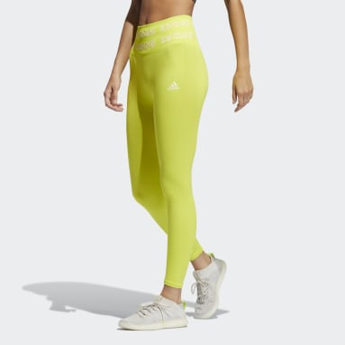 Dames Fitness En Training Geel Training Aeroknit 7/8 High-Rise Legging
