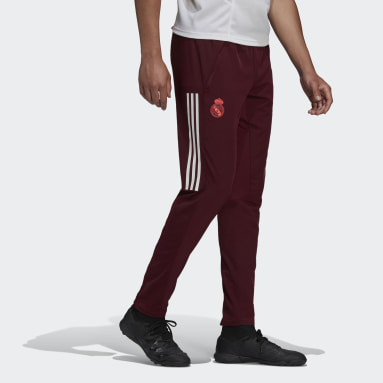 Men Football Burgundy Real Madrid Training Tracksuit Bottoms
