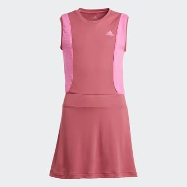 Mädchen Tennis Pop-Up Kleid Rosa