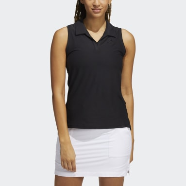 Women Golf Black Go-To Primegreen Sleeveless Polo Shirt