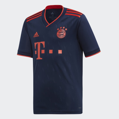 Youth 8-16 Years Football Blue FC Bayern Third Jersey