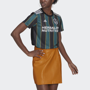 Women's Soccer Black LA Galaxy 21/22 Away Jersey