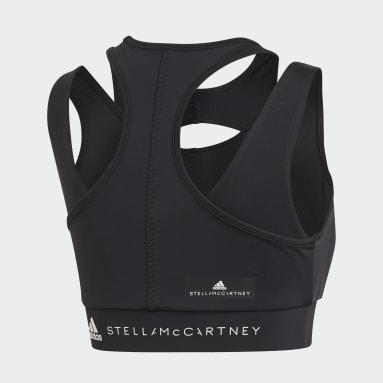 Top Triathlon Crop Negro Mujer adidas by Stella McCartney