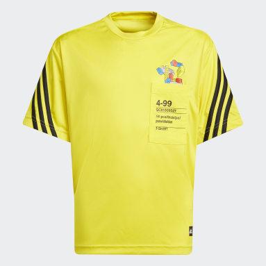 Children Training Yellow adidas x Classic LEGO® AEROREADY 3-Stripes Tee