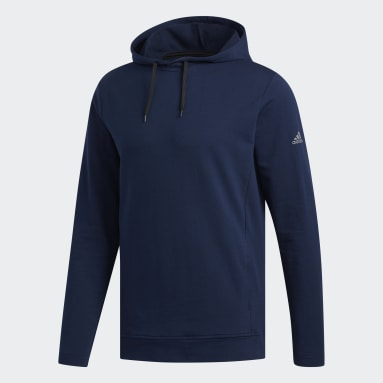 Men Golf Blue Lightweight Hoodie