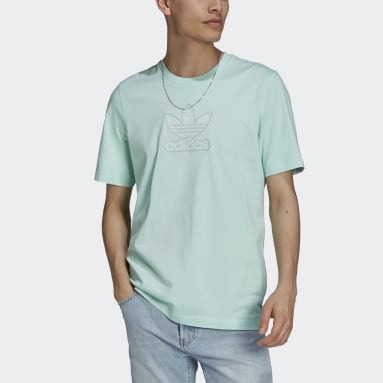 Heren Originals Turquoise Trefoil Gradient T-shirt