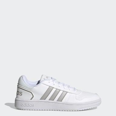Women Sport Inspired White Hoops 2.0 Shoes