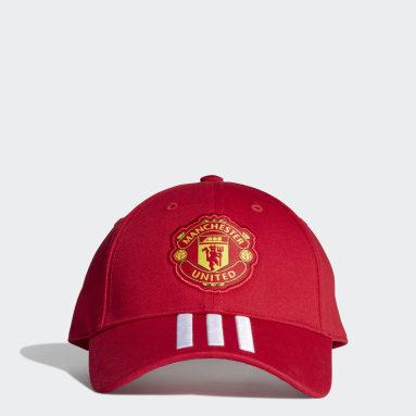 Muži Fotbal červená Kšiltovka Manchester United Baseball