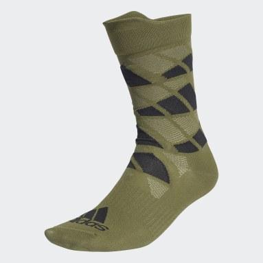 Training Green Ultralight Allover Graphic Crew Performance Socks