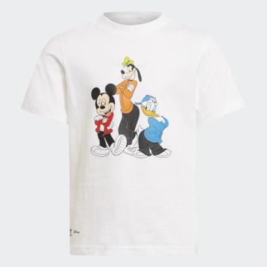 เด็ก Originals สีขาว ชุดเสื้อยืดและกางเกงขาสั้น Disney Mickey and Friends