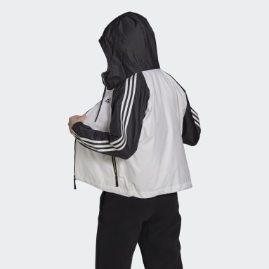 Women Outdoor White BSC 3-Stripes Wind Jacket