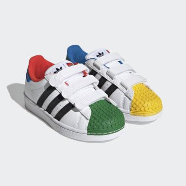 Children Originals White adidas Superstar x LEGO® Shoes