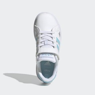 Kids Tennis White Grand Court Shoes