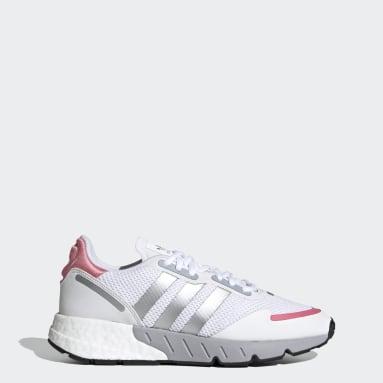 Women Originals White ZX 1K Boost Shoes