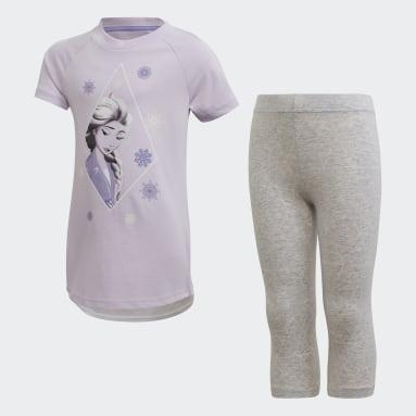Girls Gym & Training Purple Frozen 2 Summer Set