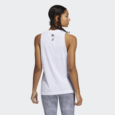 Women's Training White adidas x Peloton Muscle Tank Top