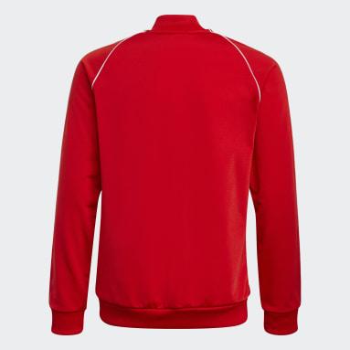 Veste de survêtement Adicolor SST Rouge Enfants Originals