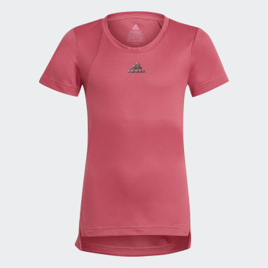 Camiseta HEAT.RDY Rosa Niña Gimnasio Y Entrenamiento
