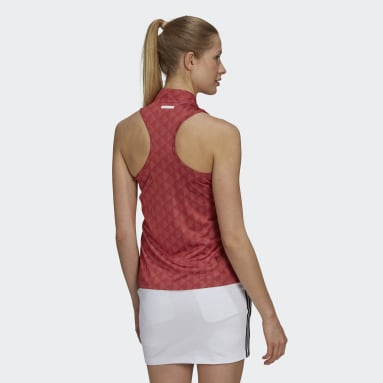 Polo Primegreen HEAT.RDY Racerback Sleeveless rouge Femmes Golf