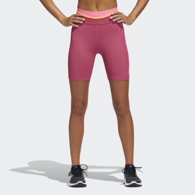 Women Training Pink Techfit High-Rise Tights